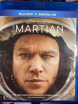 Martian, The Blu-Ray No DVD/Digital/Slip Like New FAST FREE Combine Shipping