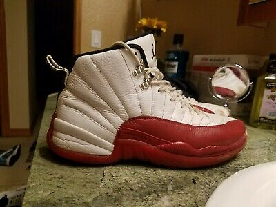 hot sales d23af 79379 Nike Air Jordan 12 Retro 130690 110 Size 9.5 White Black Varsity Red OG