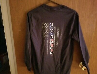 339afa7f5d6b7f Jordan Thin Blue Line Gildan Long Sleeve T-Shirt Mens size S Brand new no