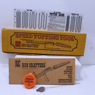 Rug Crafters Speed Tufting Tool Instructions Book Tufting Chart Needle Threader
