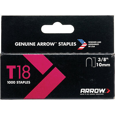Arrow T18 Wiring Staples 10mm Pack of 1000