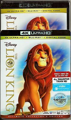 The Lion King 4K Ultra Hd Blu-Ray Digital Ultimate Slipcover New Fast Shipping