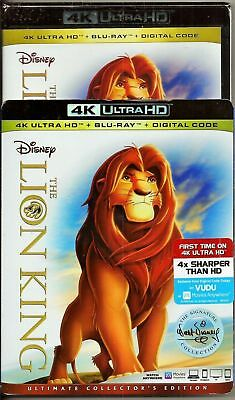 Usa Release The Lion King 4K Ultra Hd Blu-Ray Digital Ultimate Slipcover New