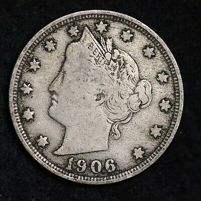 Xf Full Liberty 1906 Liberty V Nickel With Cents Free Shipping