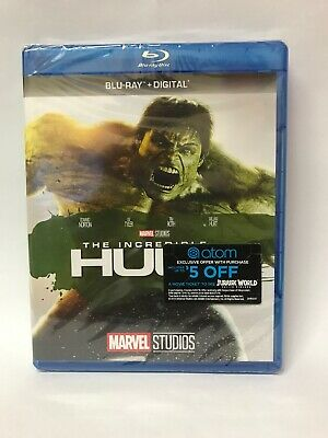 The Incredible Hulk (2008 film) Blu Ray HD, digital. New, many Extras!