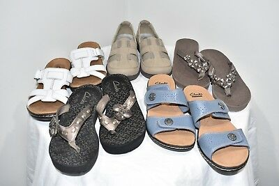 63f8c3104f8 Lot of 5 Clarks Womens shoes sandals size 6