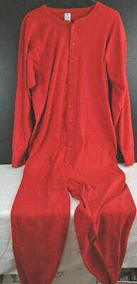 Mens Red Longjohns Union Suit By Stafford Made In U.s.a. Size 2Xlt 100% Cotton