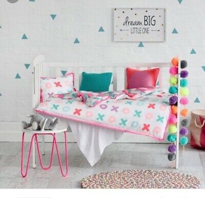 BNWT ADAIRS Kids XOXO Pink Cot Quilt Cover Set