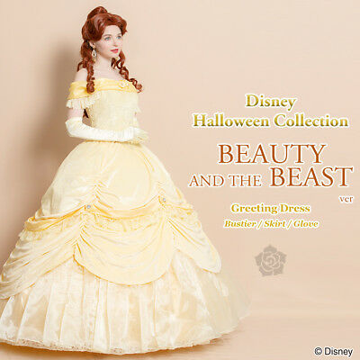 48585768cb Disney Greeting Beauty and the Beast Cosplay dress Woman secret honey Japan
