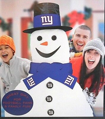 6edc51fea9f New Licensed NFL Football NY NEW New York Giants Snowman Snow Fan  Decorating Kit