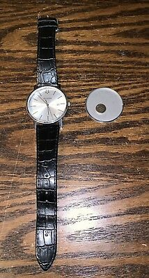 Bulova Men's 96B104 Stainless Steel Dress Watch, Needs New Crystal