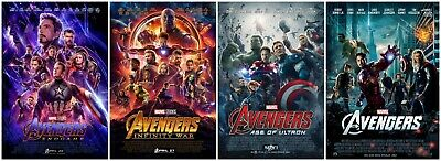 Sci-Fi Film Avengers Series Movie Cover POSTER Fabric 18x12 36x24 40x27 48x32""