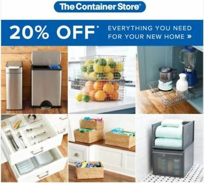 The Container Store 1coupon for 20% Off Purchase In Store or Online Exp 04/06/19