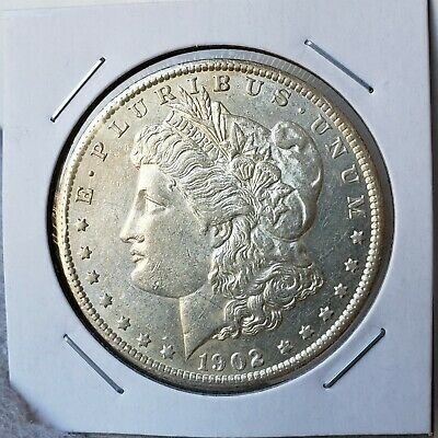 1902-S Morgan Silver Dollar - About Uncirculated - Great Looking Piece - Tough