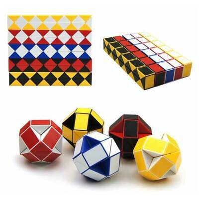 Coloured Puzzle Snake Party Bag Educational Toy 3D Magic Cube Twist Novelty Gift