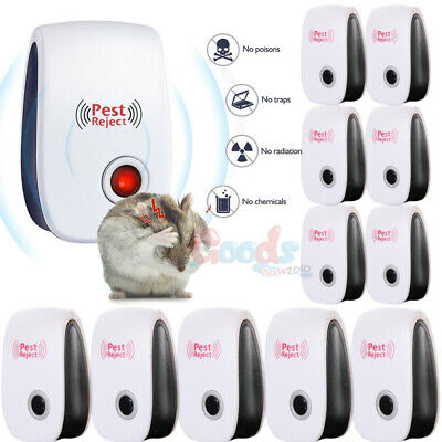 10X Ultrasonic Pest Repeller Control Reject Mosquito Rodent Insect Bed Bug Plug