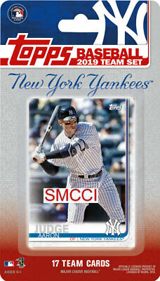 New York Yankees 2019 Topps Factory Sealed Team Set Aaron Judge Sanchez and More