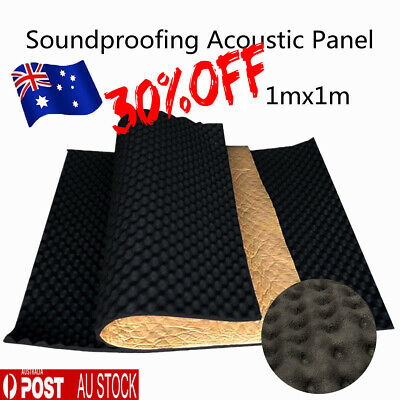 Fireproofing Acoustic Panels Wall Foam Sound Proofing KTV Studio Treatment 1x1M