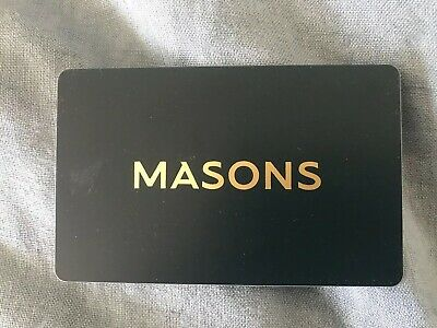 Gift Card Masons Mens Certificate $50 (have2) free post