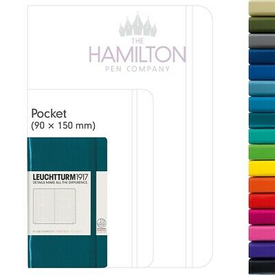 LEUCHTTURM 1917 A6 Pocket Hardcover Notebook - All Colours Available