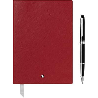 Montblanc Set Meisterstueck Classique Rollerball & Notebook #146 Red 118910