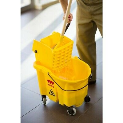 84a97ce3d54 Rubbermaid Commercial Products 35 Qt. Wavebrake Mop Bucket Wringer New  Durable