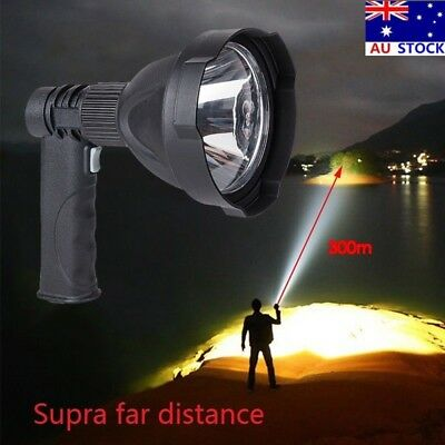 Rechargeable LED Handheld Camping Spotlight Torch Hunting Fishing Spot Light AU