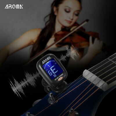AROMA AT-101 Portable Clip-on Digital Tuner with Foldable Rotating Clip X1B0