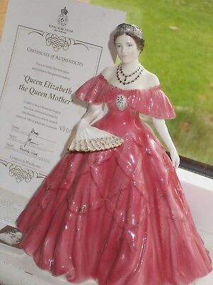 royal worcester figurine her royal majesty queen elizabeth the queen mother