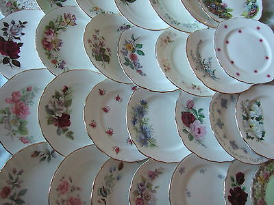 Shabby Chic Vintage Bone China Pretty Single Tea Side Plates. VGC Tea Party!