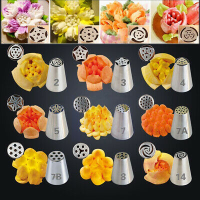 17 Pcs Russian Flower Cake Icing Piping Nozzles Decorating Tips Baking Tools Hot
