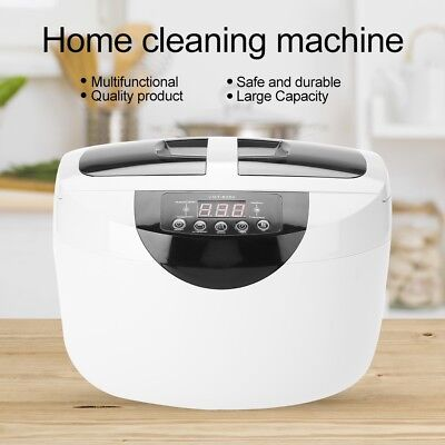 2.5L Stainless Steel Ultrasonic Cleaner Jewelry Glasses Lens Watches Rings Tools