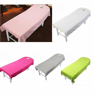 5 Colors Beauty Massage Spa Bed Table Cover Salon Couch Sheet Bedding With Hole