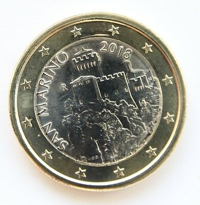 SAN MARINO  1 € Euro second series circulation coin  2018
