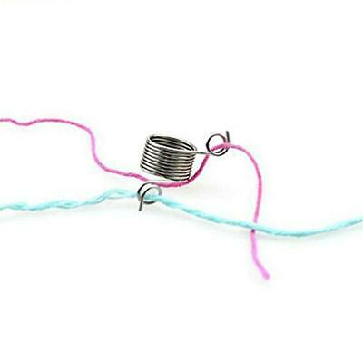 Knitting Tools Yarn Spring Guides Thimble Ring Stainless Steel FA