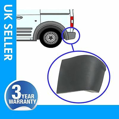 Ford Transit Connect rear bumper corner end caps with clips / left side