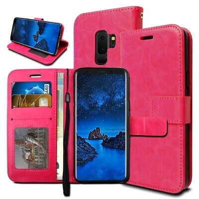 For Samsung Galaxy S9 Plus Flip Leather Wallet Book Phone Case Covr