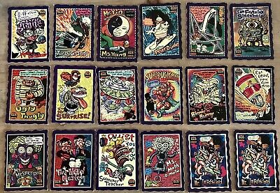 The Oddbodz Glo 18 X Purple Collector Trading Cards Vg