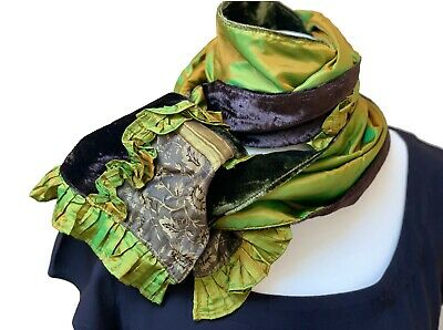 Womens Ladies Gorgeous Crushed Velvet Slim Scarf Many Colours Winter Warm