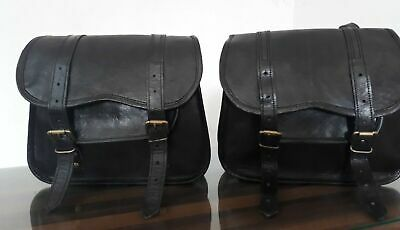 Saddlebags Motorcycle Side Pouch Dark Brown Real Leather Side Pouch Panniers