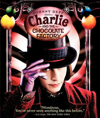 Charlie and the Chocolate Factory BLU-RAY NEW