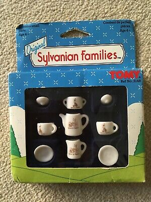 Rare Vintage Original Sylvanian Families 1985 Ceramic Kitchenware With Box