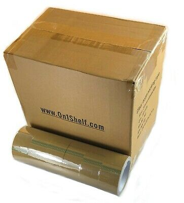 Brown Packaging Tape Rolls Sealing Box Packing Parcel Tapes BOX - 36 Rolls, 48mm
