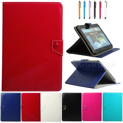 "Universal Leather Stand Case Cover Pouch 7"" 8"" 9.7"" 10"" 10.1""Inch Android Tablet"