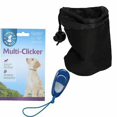 Volume Controlled Multi Clicker Dog Puppy Training With Treat Bag