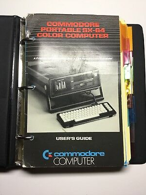 Commodore SX-64 Users Guide Manual & 1581 Disk Drive Manual 64 C64