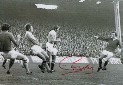 Sammy Mcilroy Manchester United Great Authentic Hand Signed 12 X 8 Inch With Coa