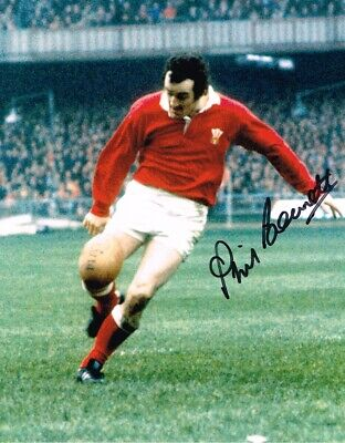 Phil Bennett Wales Rugby Legend Authentic Hand Signed 10 X 8 Inch With Coa