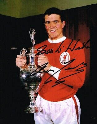 Ron Yeats Liverpool Fc Legend Authentic Signed 10 X 8 Inch With Coa