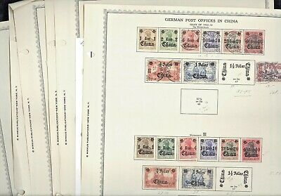 GERMANY, Offices in China, Morocco,  Excellent Stamps hinged on Minkus pages & o